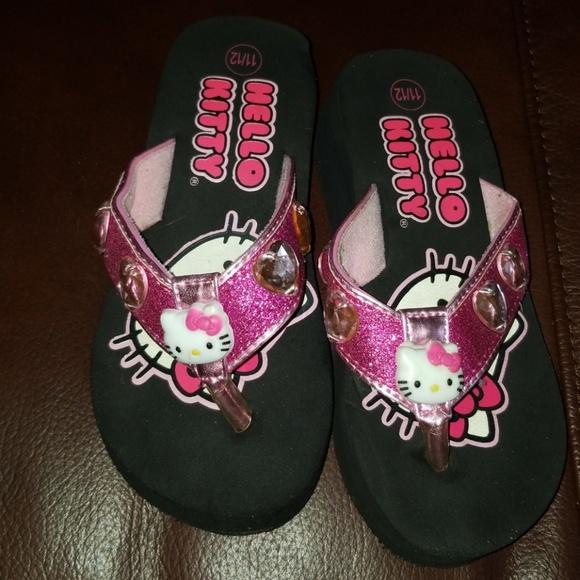 11789d522 Hello Kitty Shoes   Size 1112 Girls Wedge Flip Flop   Poshmark